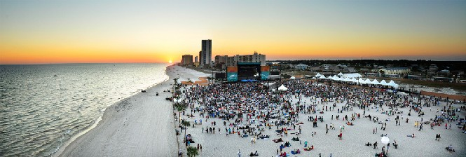 Alabama music festival on the beach